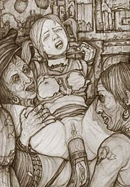 Bdsm Hines - witches away as they persisted in licking and sucking her sore tits and pussy with their raspy, experienced tongues